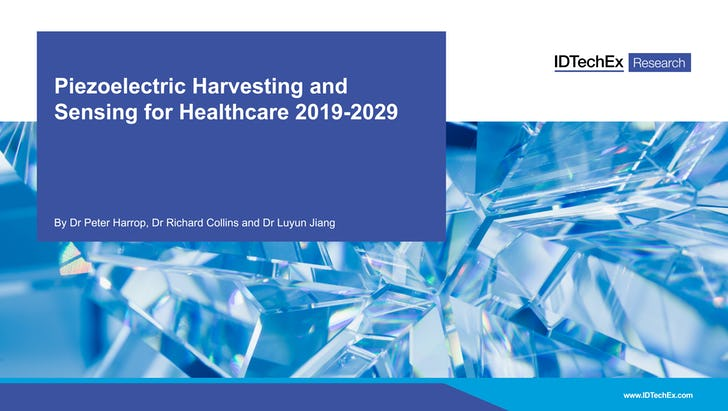 Piezoelectric Harvesting and Sensing for Healthcare 2019-2029