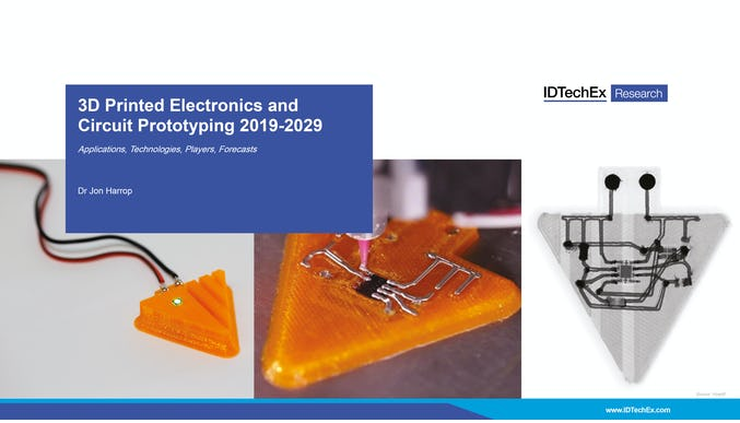 3D Printed Electronics and Circuit Prototyping 2019-2029