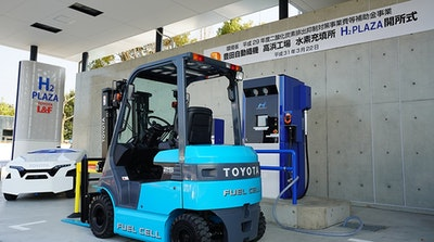 Fuel cell forklifts powered with solar hydrogen energy