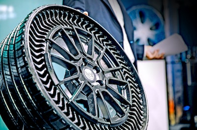 Michelin and GE 3D print airless tires