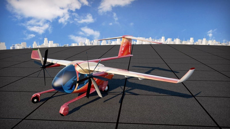 Metro Hop Low Cost Pure Electric STOL Aircraft