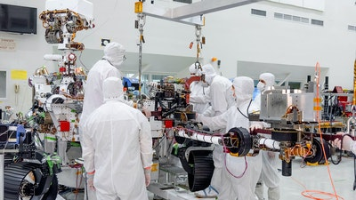 NASA's Mars 2020 Rover's 7-foot-long robotic arm installed