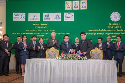 200 MW engine power plant will help meet Cambodia's electricity demand