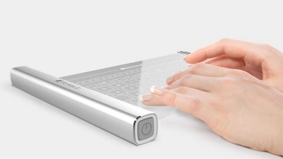 Introducing the Royole transparent, rollable keyboard