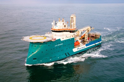Construction support vessel efficiency enhanced by hybrid propulsion