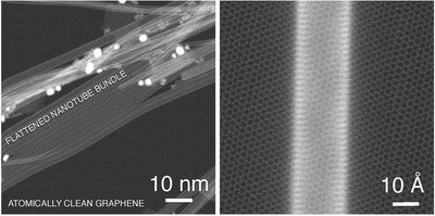 Graphene substrate improves conductivity of carbon nanotube network