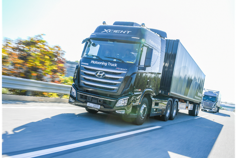 Hyundai Demonstrates Successful Truck Platooning