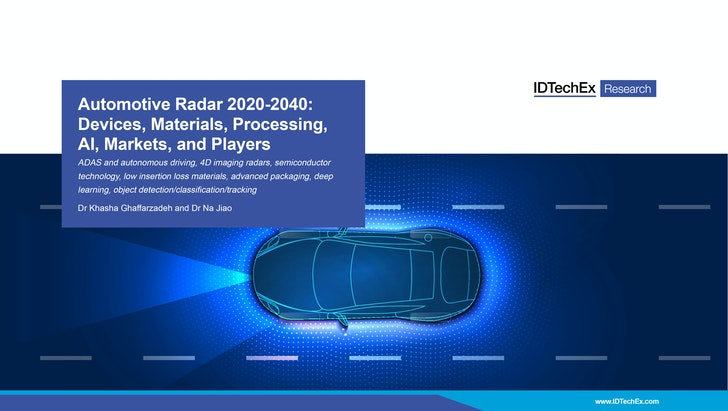 Automotive Radar 2020-2040: Devices, Materials, Processing, AI, Markets, and Players