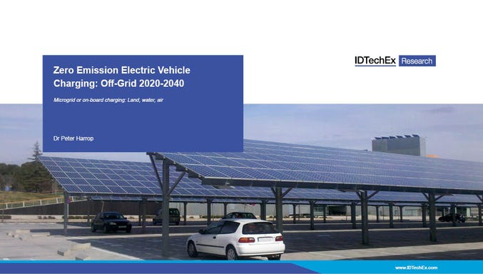 Zero Emission Electric Vehicle Charging: Off-Grid 2020-2040