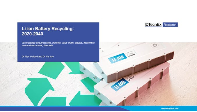 Li-ion Battery Recycling: 2020-2040