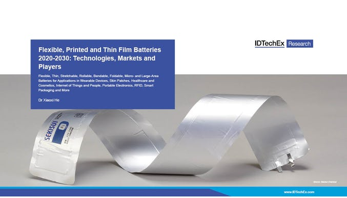 Flexible, Printed and Thin Film Batteries 2020-2030: Technologies, Markets and Players