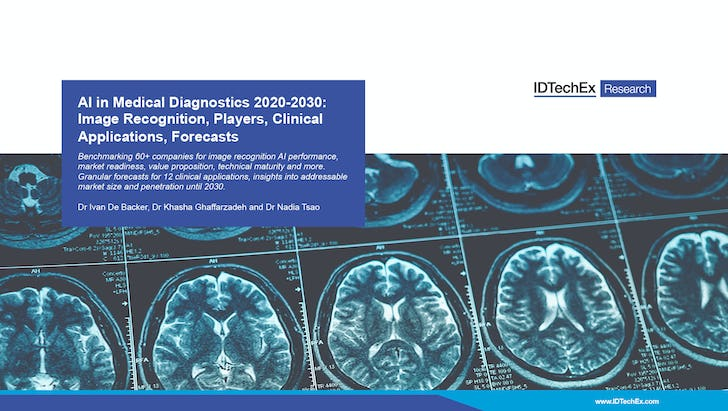AI in Medical Diagnostics 2020-2030: Image Recognition, Players, Clinical Applications, Forecasts