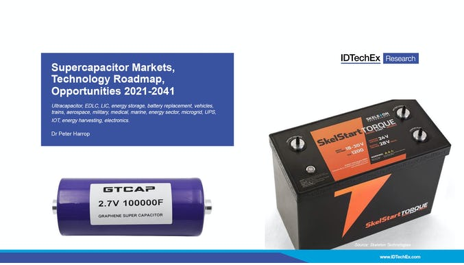 Supercapacitor Markets, Technology Roadmap, Opportunities 2021-2041