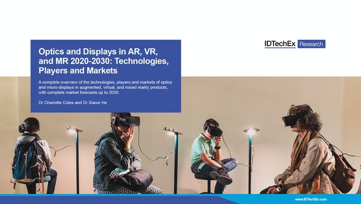 Optik und Displays in AR, VR und MR 2020-2030: Technologien, Akteure und Märkte