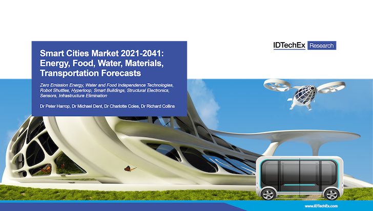 Smart Cities Market 2021-2041: Energy, Food, Water, Materials, Transportation Forecasts