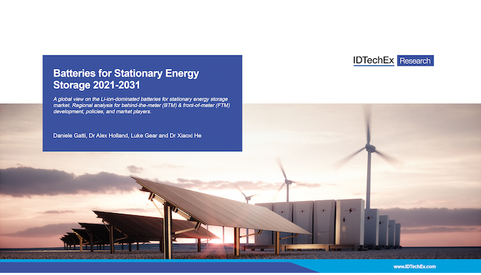 Batteries for Stationary Energy Storage 2021-2031