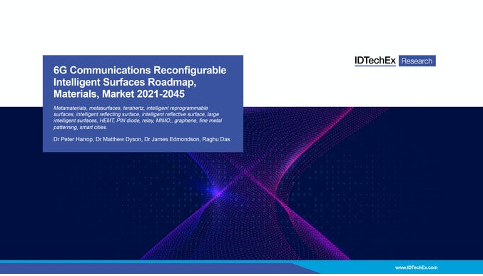 6G Communications Reconfigurable Intelligent Surfaces Roadmap, Materials, Market 2021-2045