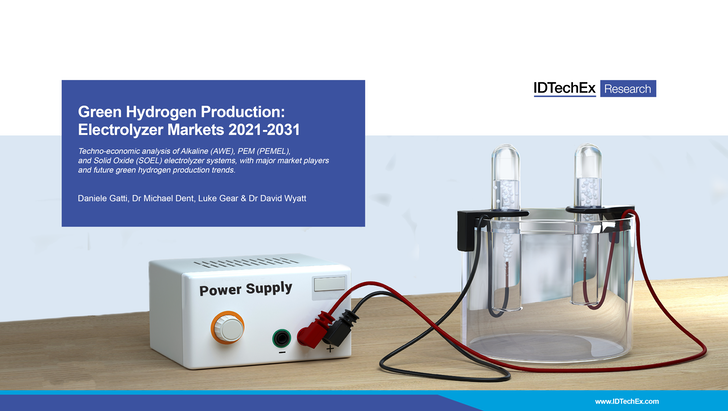 Green Hydrogen Production: Electrolyzer Markets 2021-2031
