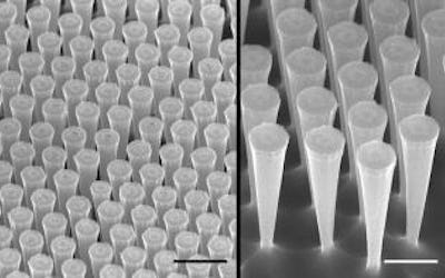 Silicon micro-funnels increase the efficiency of solar cells