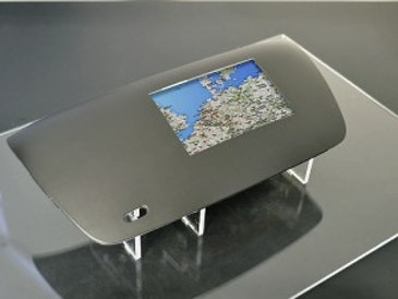 World's first multitouch, button-free 3D shaped panel for automotive