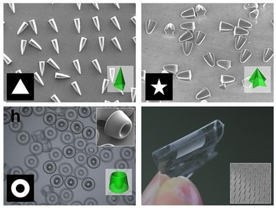 Three-dimensional control over functional shapes of microstructures