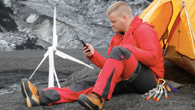 Portable wind turbine for clean energy anywhere