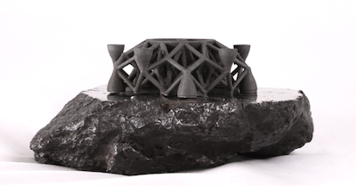 First ever 3D printed object from asteroid metals