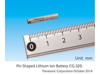Smallest pin shaped lithium ion battery