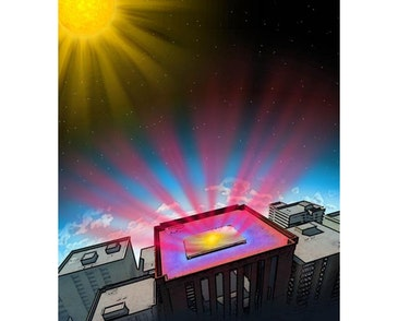 High-tech mirror to beam heat away from buildings into space