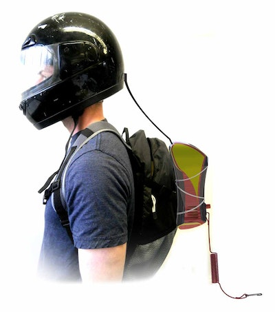Rider powered motor cycle safety alarm