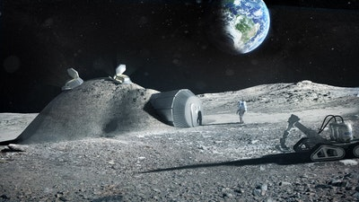 Buiding a lunar base with 3D printing