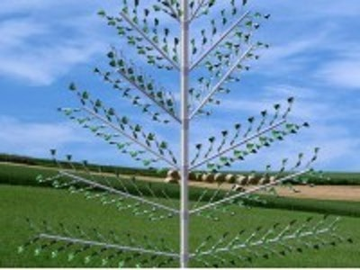 Flapping leaf generator for wind energy harvesting