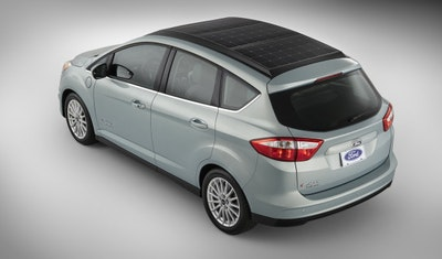 Ford unveils solar powered car with new system that tracks the sun