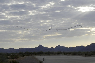 Solar powered unmanned aircraft sets new flight records
