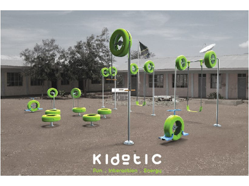 Playground produces energy
