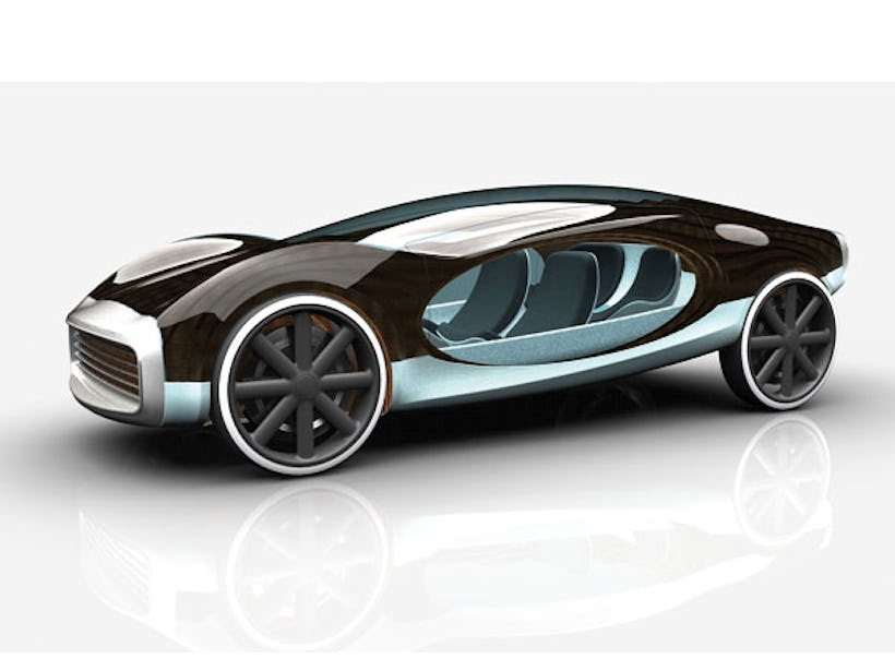 Car that uses solar and piezoelectric energy