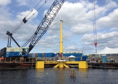 World's first concrete-composite floating platform wind turbine