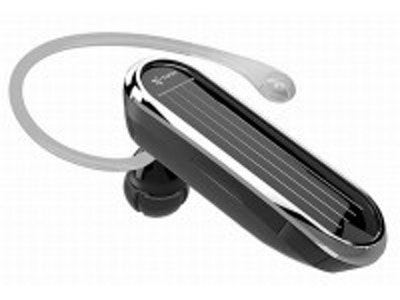 Solar powered Bluetooth headset