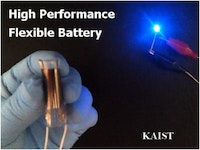Development of a high performance flexible solid state battery