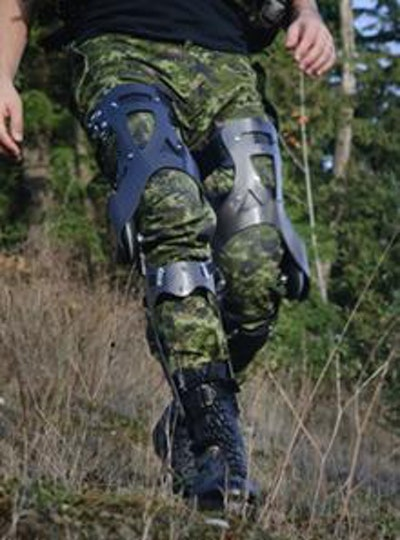 Canadian soldiers testing bionic energy harvester