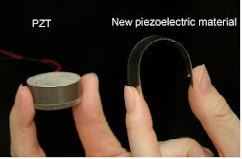 New piezoelectric material off grid energy harvesting for Waste material products