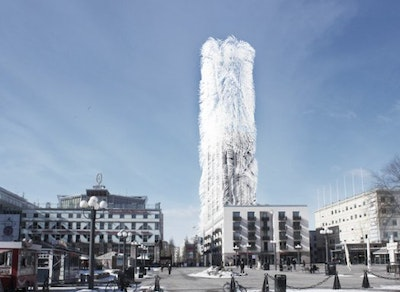 Concept skyscraper generates its own energy using wind