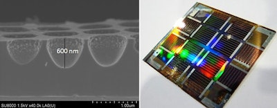 Nano-imprinted photonic structures improve efficiency of silicon solar