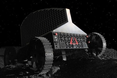 Solar powered lunar polar rover