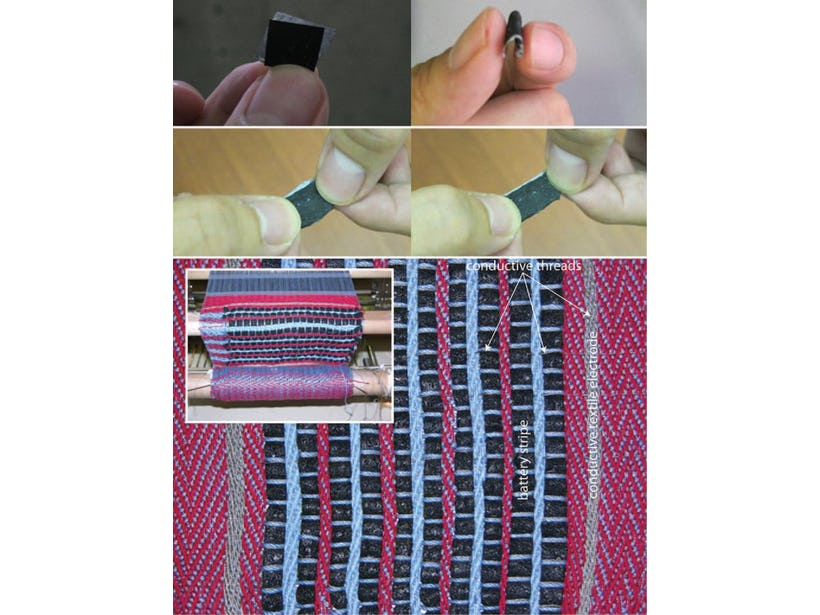 Battery that can be woven into clothing