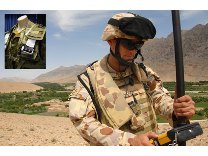 Body vibration energy to power soldiers' electronics
