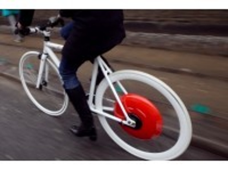 Copenhagen Wheel harvests cyclist's energy
