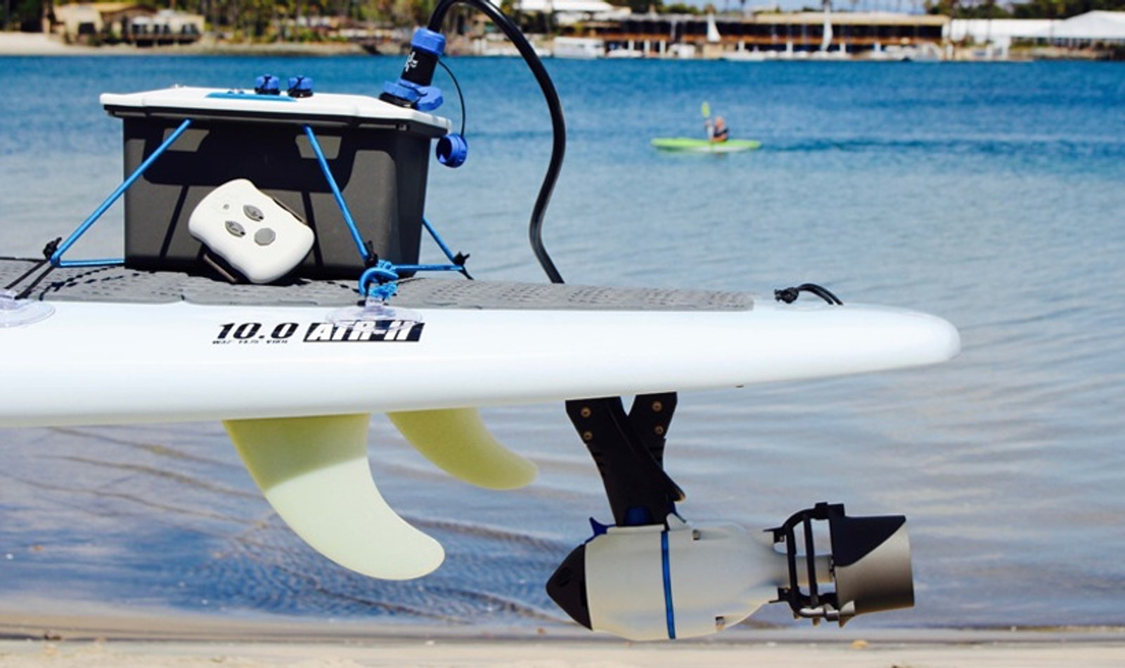 Lightweight water jet system adds propulsion to water sports