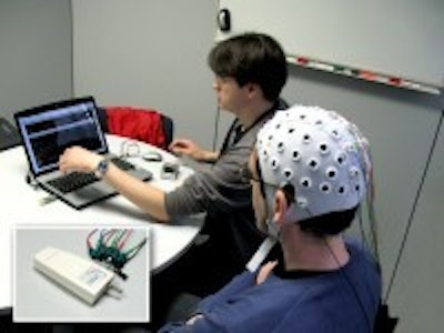 Portable, easy-to-wear mind speller typing words with your brain