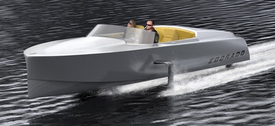 Edorado Marine's new electric hydrofoil powerboat